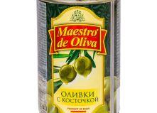 """Оливки зеленые с косточкой """"Maestro de Oliva"""" (280 г)"""