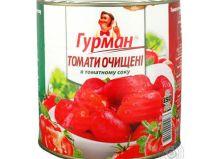 Томаты Гурман очищенные в томатном соке 2600 г