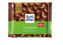 """Шоколад Ritter Sport Cashew молочный шоколад с цельным орехом  """"Кешью"""" 100г"""