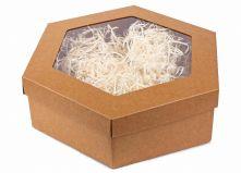 Крафтовая подарочная коробка (шестигранник)