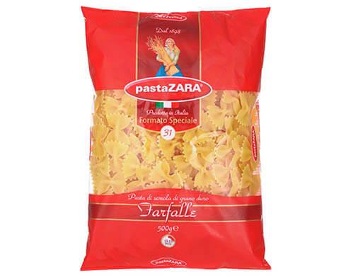 Макаронные изделия Pasta Zara 31 Бантики, 500 г