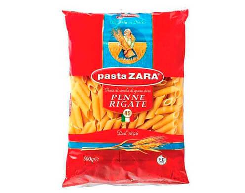 Макароны Pasta Zara № 49 Penne Rigate перья рифленые