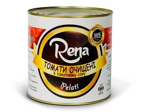 Томаты Рена (Rena) Очищенные 2600 г