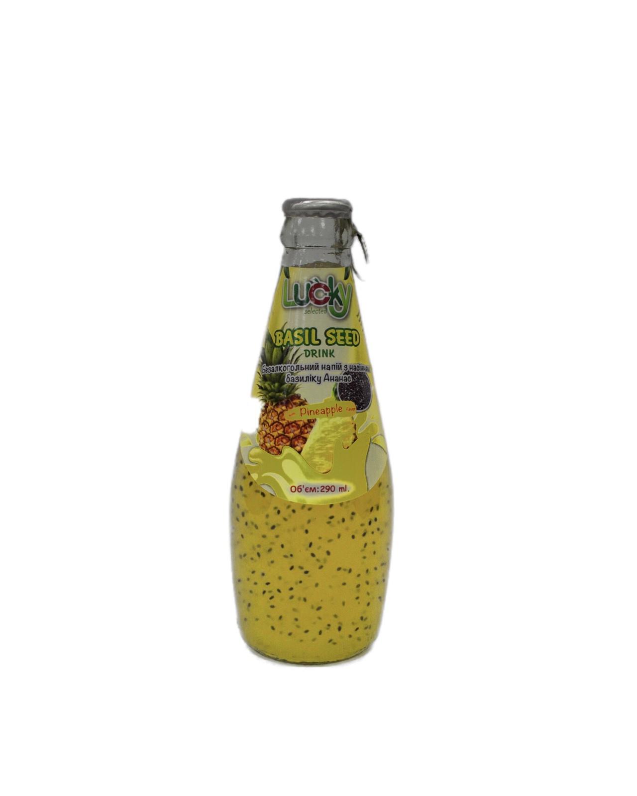 Напиток Lucky с семенами Базилика Ананас 290мл