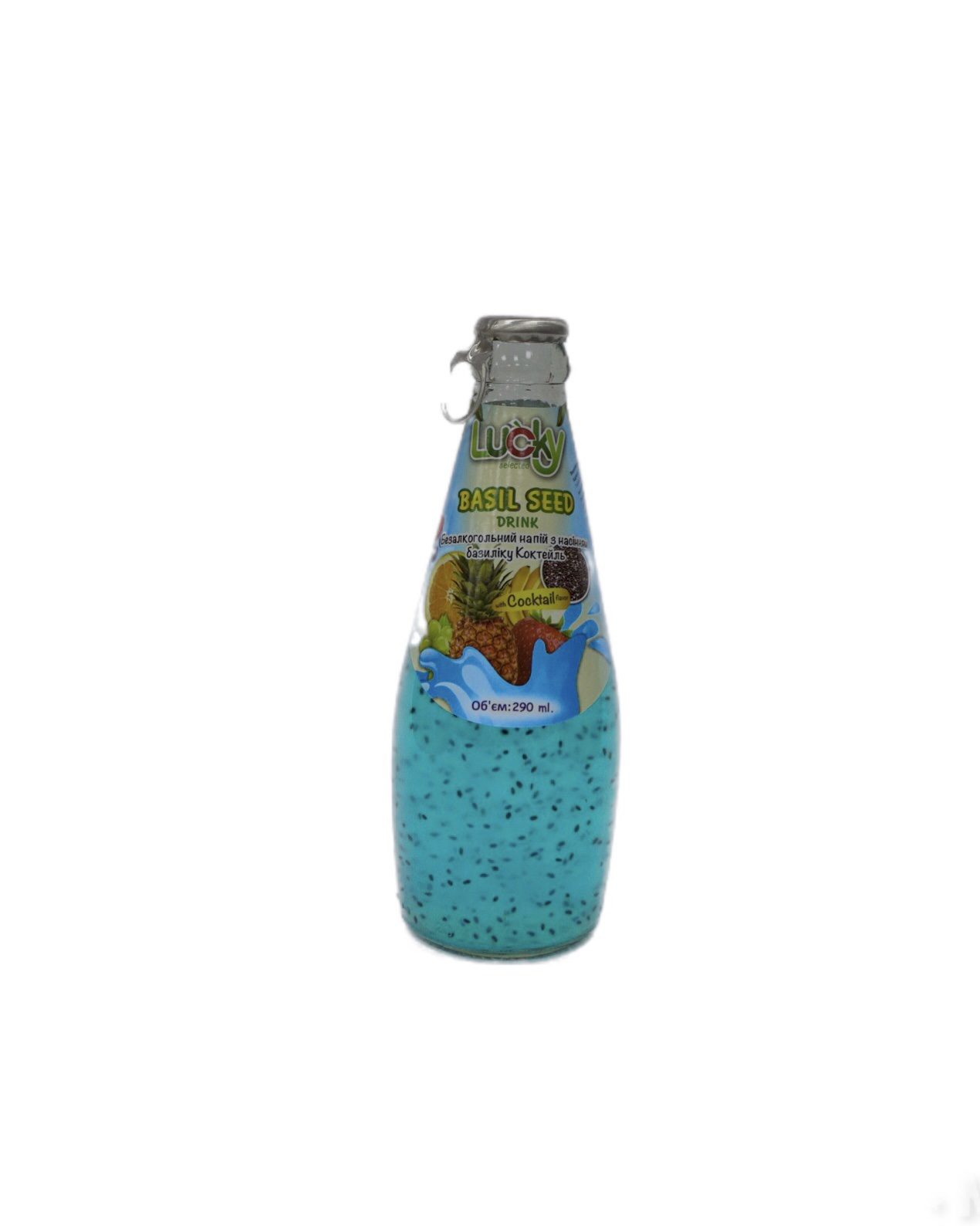 Напиток Lucky с семенами Базилика Коктейль 290мл