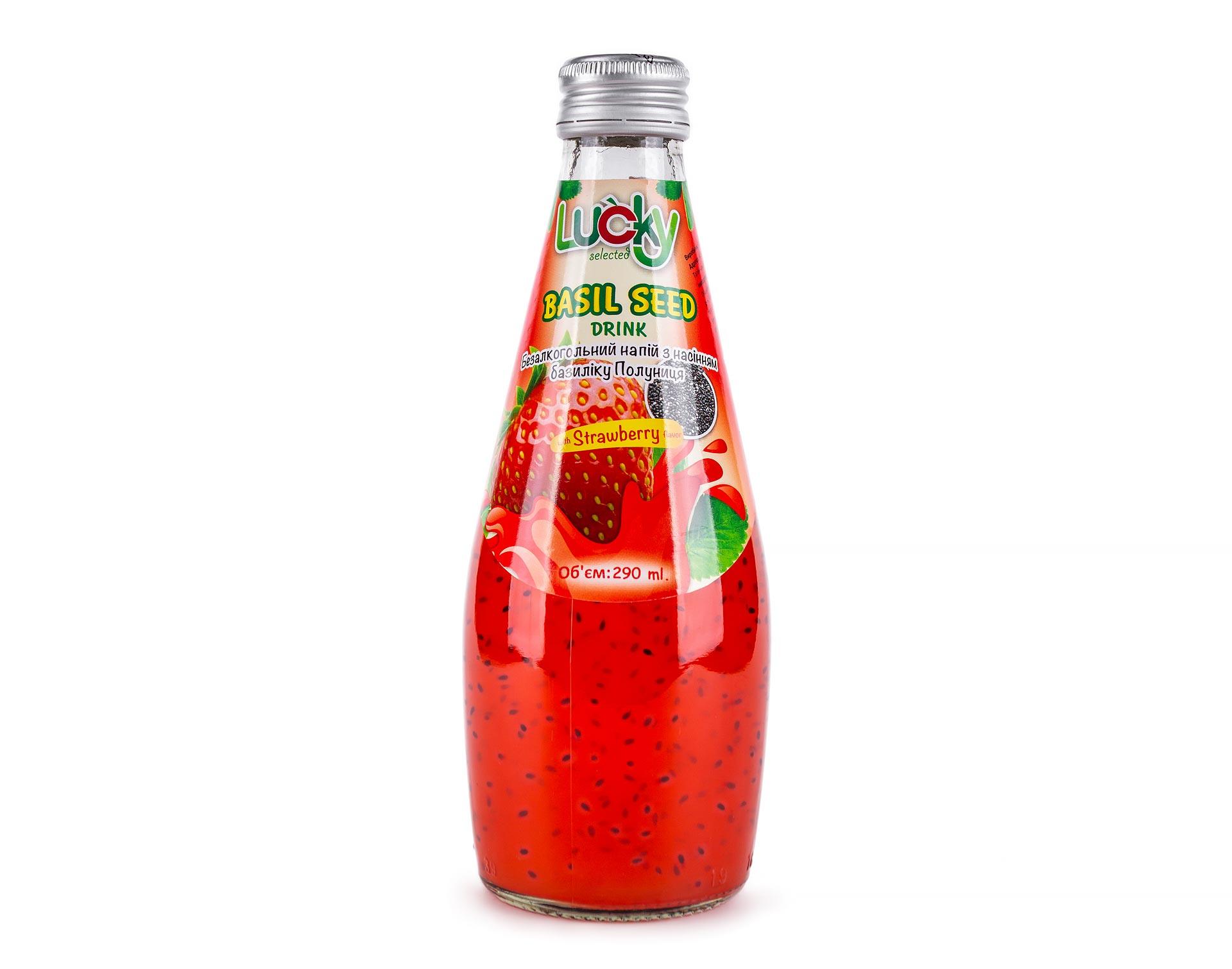 Напиток Lucky с семенами Базилика Клубника  290мл
