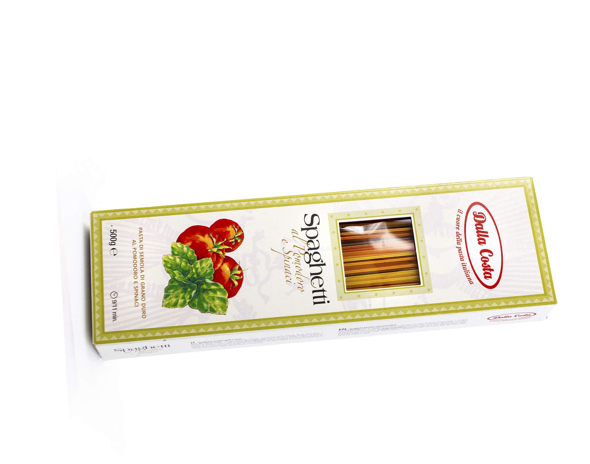 Спагетти со шпинатом и томатами Dalla Costa 500г