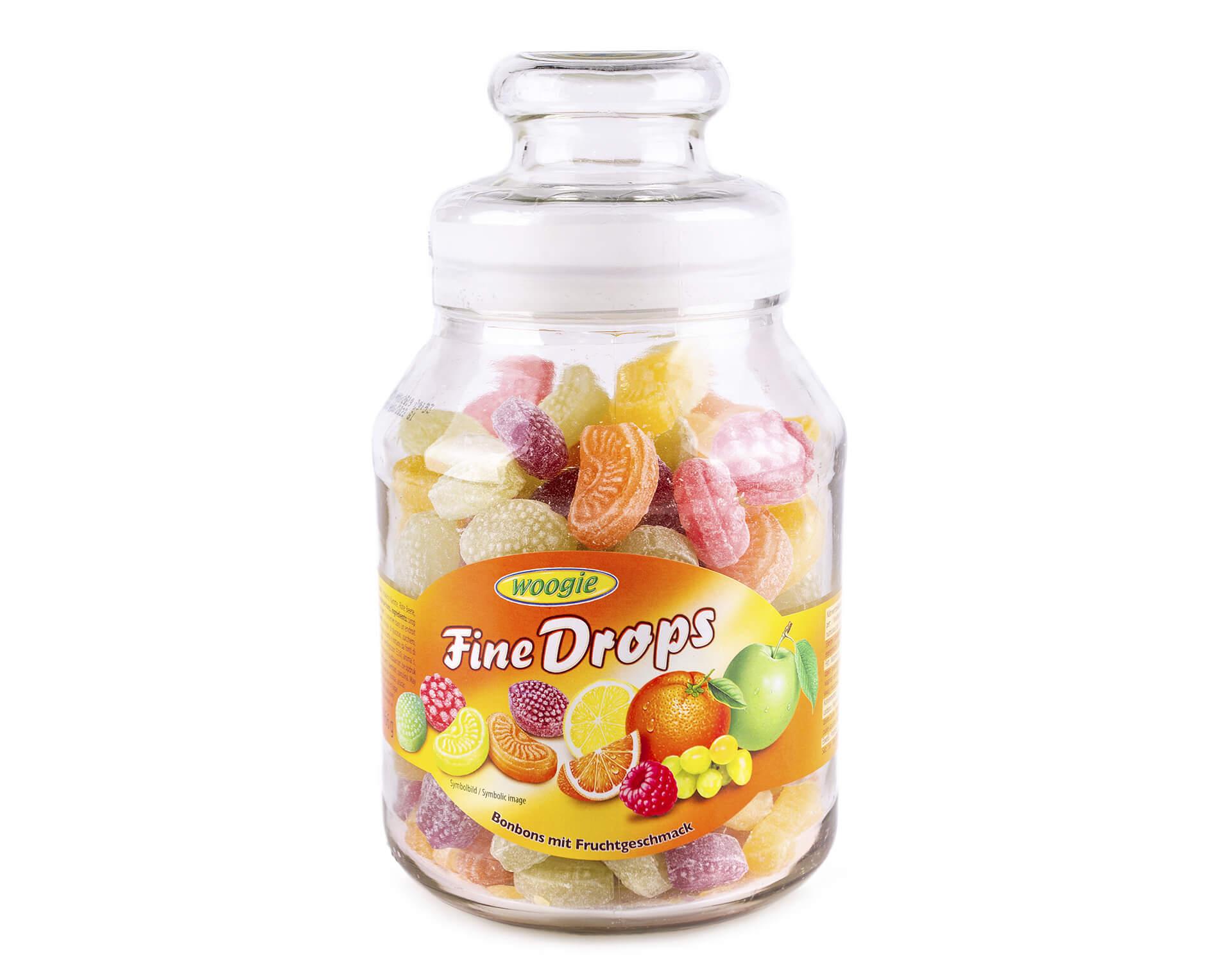 Леденцы (конфеты) Woogie Fine Drops  микс фруктовый 300г
