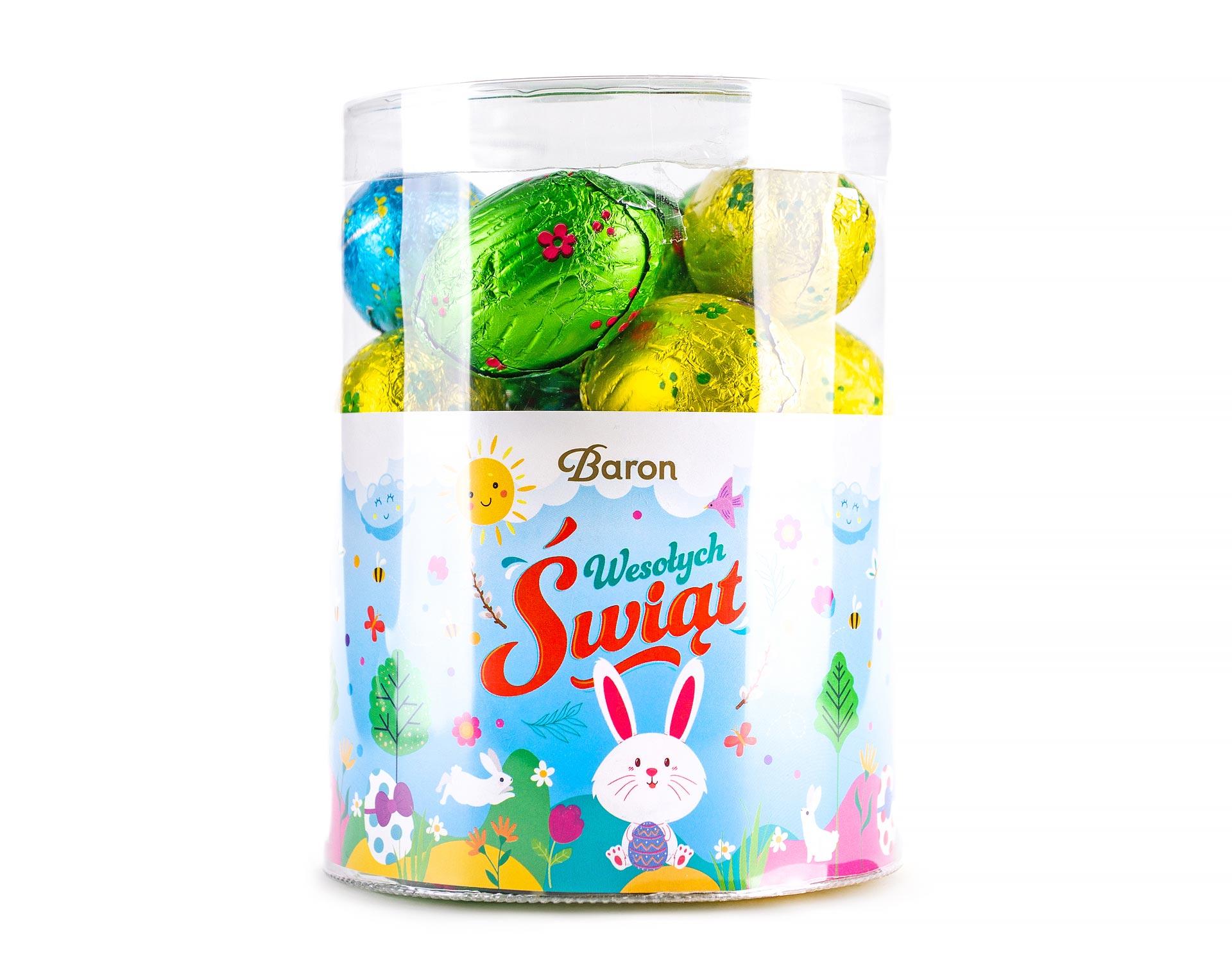Пасхальный набор шоколадных яиц в тубусе 450г