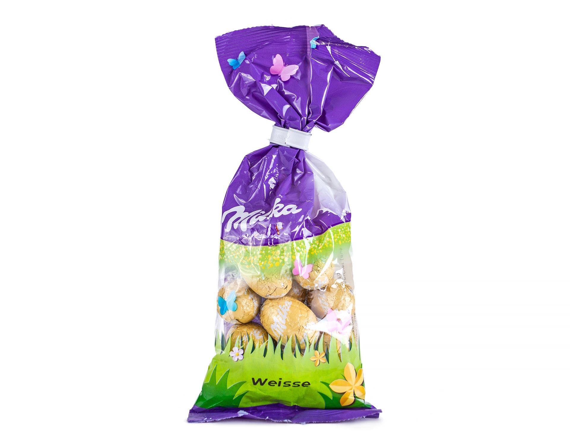 Шоколадные яйца Milka Weisse Eggs 100 g