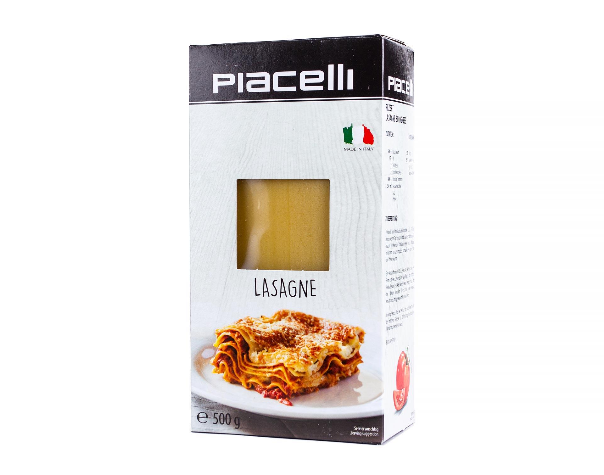 Листы для лазаньи Piacelli 500 г