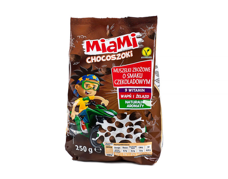 Сухой завтрак шоколадные хлопья Miami, 250г